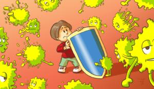 enfants vulnérables pollutions - un enfant se protégeant des polluants